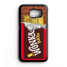 Golden Bar Willy Wonka Chocolate Case for iPhone 4S 5 5S 5C SE 6 6S Plus Samsung S3 S4 S5 Mini S6 S7 Edge A3 A5 A7 2015(China)