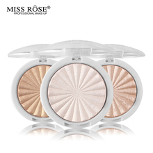 Miss Rose Glow Kit Highlighter Makeup Shimmer Powder Highlighter Palette Base Illuminator Highlight Face Contour Golden Bronzer(China)