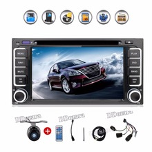 Newest 200*100 double din Car DVD Player PC GPS Navigation Stereo for Toyota Multimedia Screen Universal Head Unit Double BT MP