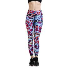 Color blue camouflage Womens fitness sports Leggings Yoga Pants Activewear gear sublimation print high waisted Band Quality gear(China)