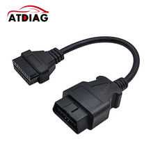 2017 Hot sale Good quality 16 Pin Male To 16 Pin Female OBD 2 OBD II Extension Factory OBD2 Adapter Connector Free Shipping(China)