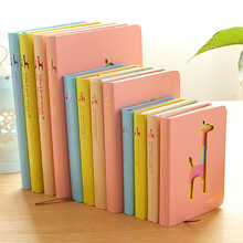 Yasaca Candy Color Notebook Korea Hard Notebook Deer Hollowed Notebook Mini Portable Notepad Cheap Office School Stationery Gift(China)