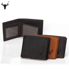 Men Wallet Fine Leather Card Money Wallets Holder Genuine Cow Leather Mens Purses Black High Capacity Zipper Pocket Coin Pocket