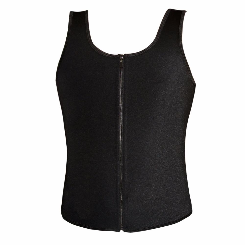 Latex Waist Cincher Men Rubber Bone Hot Fat Burning And Control Slimming Fit Vest Body Shaper Zipper Close Underwear Bustier 6XL (7)