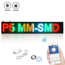 50CM RGB P5 SMD Led Sign Programmable Scrolling Message LED Display Board Display multi-languageTime countdown