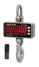 Buy High precision 1000KG 2000LBS 1T Aluminum Digital Crane Scale heavy Duty Hanging Scale Smart Type LED Display Remote for $109.99 in AliExpress store