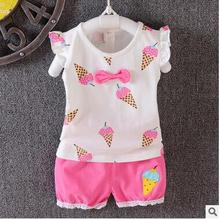 girls newborn baby clothing sets summer for 2016 summer original infant baby girl clothes brand set suit t-shirts+shorts