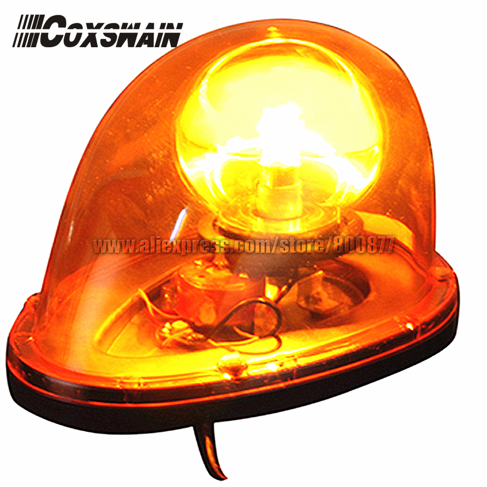 Coxswain Amber Rotator Beacon for enginer car, Magnetic Install, waterproof, DC12/24V, PC lens, Emergency Warning light (D212)<br>