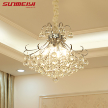2017 Luxury Crystal Chandelier Living Room Lamp lustres de cristal indoor Lights Crystal Pendants For Chandeliers Free shipping(China)
