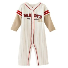 Baseball Baby Rompers Newborn body suits Daddy babywear Baby Overall Baby Clothes white
