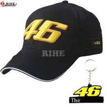 MOTO GP racing cap outdoor sports motorbike hat 46 Rossi Valentino Adjustable casual baseball cap snapback F1 caps & 46 keychain