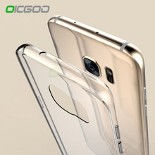 OICGOO Transparent Case For Samsung Galaxy S7 Edge S7 Ultra Thin Clear Soft TPU Silicone Cover Cases For Galaxy S7 S7 Edge Case(China)