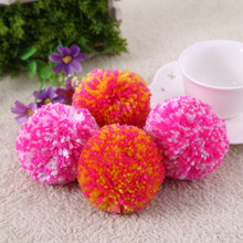 Wool Yarn Sweater Knitting Accessories Colorful 5cm Pom pom Balls Clothing Decoration Diy Fur Ball For Wedding Home Decoration(China)