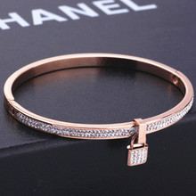 Stainless Steel Screw Clasp love couple  fine jewelry for women Brand discount bracelet bangle for women stainless steel bangles