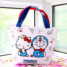 Hello Kitty Women Handbag Classic Cartoon Canvas Shopping Bags Pattern Personalized Crossbody Bags For Women Clutch Bag(China)