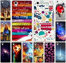 Case For Lenovo P70 Dreamchatcher Happy London Red Lips Ship PC Painting Phone Case For Fundas Lenovo P70 P70T Cover Shell Capa
