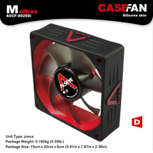 ALSEYE Cooling Fan 80mm Cooler Fan for Computer DC 12V 3Pin 2000RPM Fan with Silicone Skin Ultra-quite(China)