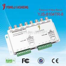 Free shipping 8 Channel Passive Transmitter CCTV Video Balun BNC Female to UTP Rj45 CCTV Camera DVR Cat5 with Cables
