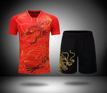 Kids/Women Sports Dragon Badminton/Table Tennis Clothes Suits Training/Running Jersey/Shirt/Shorts/T shirts For Boys/Girls/Mujer