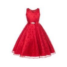 6-15years Autumn girls dresses sleeveless kids dresses for girls clothing cotton princess dresses 6 colors kids clothes costumes(China)