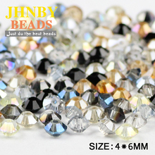 Buy JHNBY spaceship shape Austrian crystal beads 4*6MM 100pcs AB color Double Bicone Loose beads jewelry making bracelet DIY Store) for $2.49 in AliExpress store