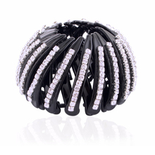 Shrinkable Hairpin 2016 New Womens Hair Accessories Bud Hair Clip Nest Shape Hair Ties Ponytail Holder Black Color Size L S HC58
