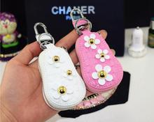 Creative Flower style Car key ring Leather Key case Bentley Maserati Ferrari Lamborghini Tesla 3colors - DY LIGHT's store