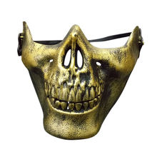 5 Color Skull Skeleton Mask Halloween Half Face Protective Skull Skeleton Airsoft Paintball Hunting Half Face Protect Mask