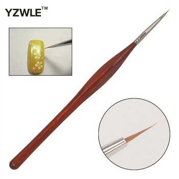 YZWLE 1 PC Professional Manicure Pen Wood Handle Sable Nail Brushes Styling Tools / Drawing Painting Brush Pen For Manicure 09