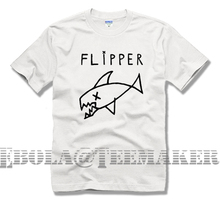 Generic Flipper Band Logo Fight Blow'n Chunks Love Gone Fishin couple clothes man cotton short-sleeve T-shirt(China)
