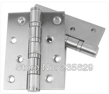 Free Shipping, 304 brushed stainless steel Finished Hinges for door, Interior hinge, ball bearing hinge, no noise,exterior hinge(China)
