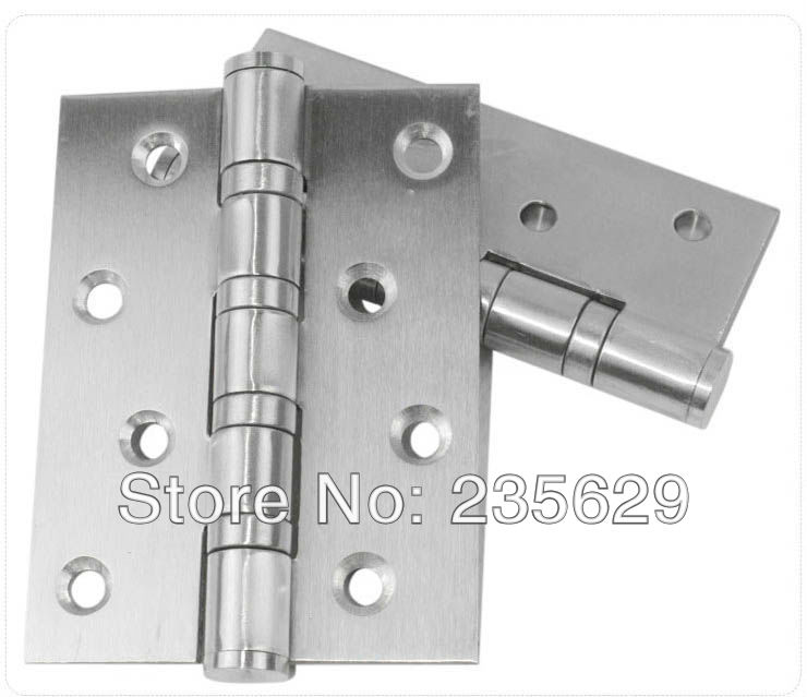 Free Shipping, 304 brushed stainless steel Finished Hinges for door, Interior hinge, ball bearing hinge, no noise,exterior hinge(China (Mainland))