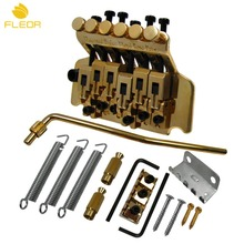FLEOR 1 Set of Gold Tremolo System Double Locking Floyd Rose Electric Guitar Tremolo Bridge(China)