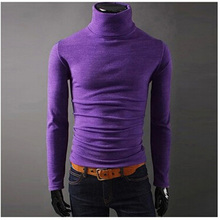 2015 NEW Men Winter Warm Turtleneck Pullover Thermal Sweater Multi color option Solid design Soft and Warm free shipping