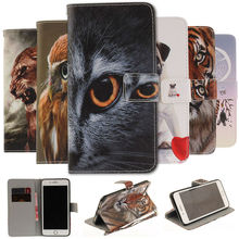 Painting Wallet Stand Flip Leather Cover Case for iPhone 5 SE 5S 5G 6 s 7 8 cell phone bag Cases Caque for iPhone 6 6s 8 plus(China)