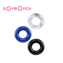 Buy 3pcs/Lot Silicone Cock Ring 3 Colors Delay Ejaculation Stretchy Cock Ring Penis Rings Sex Products Sex Toys Men