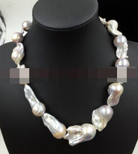 Jewelr 006153 REAL HUGE AAA SOUTH SEA purple BAROQUE PEARL NECKLACE