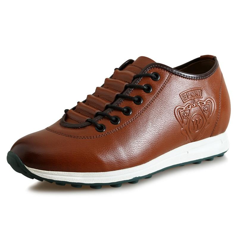 Zmx177 Comfortable Calfskin Height Increasing Elevator Shoes in Hidden Insoles Heels Grow Men Taller 6CM Invisibly<br><br>Aliexpress