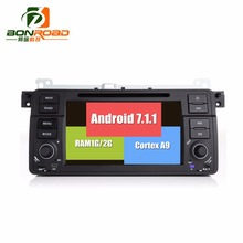 Android 7.1.1 Quad Core 1024 600 Car Video DVD Player For E46/M3/MG/ZT/Rover 75/320/318/325 Radio Rds GPS Navigation bluetooth