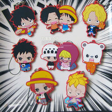 8 pcs/set Anime One Piece Figures Sabo,Luffy,zoro,Law ,Marco,Ace,Shankusu Genuine Figures pvc Keychain Pendant Toys Free Ship