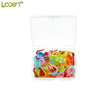 Looen Brand 50Pcs/case Plastic Knitting Crochet Locking Stitch Markers Crochet Latch Knitting Tools Needle Clip Hook Mixed Color