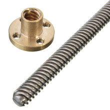2pcs A SET Lead Screw 8MM Thread 8mm T8 Length 500mm with Copper Nut 4 Start Z Axis 50cm Linear Rail Bar Shaft(China)