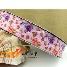"New arrival free shipping 50yards 7/8""22mm printed grosgrain dora ribbon DIY accessories gift ribbon 4687-022(China)"