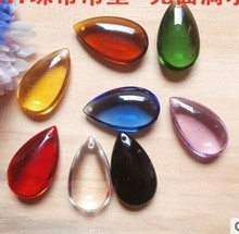 30pcs Top quality tear drop 50mm 10 colors mixed crystal chandelier pendants/crystal chandelier trimming (30pcs/lot)