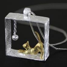 Buy Silver Color Cat Statement Necklace Alloy Link Chain Kitty Necklaces & Pendants Women Girl Fashion Jewelry for $3.28 in AliExpress store