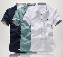 The new male shirts Men Korean Slim short-sleeved shirt dress shirt 2014 fashion men's shirts