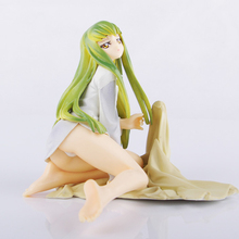 10cm Tall Anime Code Geass C.C. CC Sexy Character Sitting Ver. Sexy PVC Action Figures Collection Model Toy