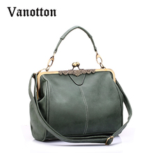 Fashion Brand New Vintage Bags Retro PU Leather Tote Bag Women Messenger Bags Small Green Clutches Ladies Shoulder Handbags(China)