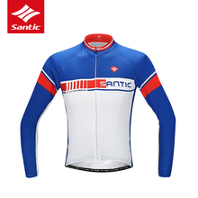 Santic Men Long Sleeve Cycling Jersey MTB Road Bike Jersey Anti-UV Breathable Bicycle Jersey Cycling Clothing Ropa Ciclismo(China)
