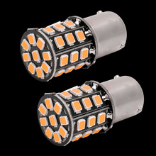 4pcs Small Size High Power Amber Yellow 33 LED 2835 SMD BAU15S 7507 PY21W 1156PY LED Bulbs For Front Turn Signal Lights 12V